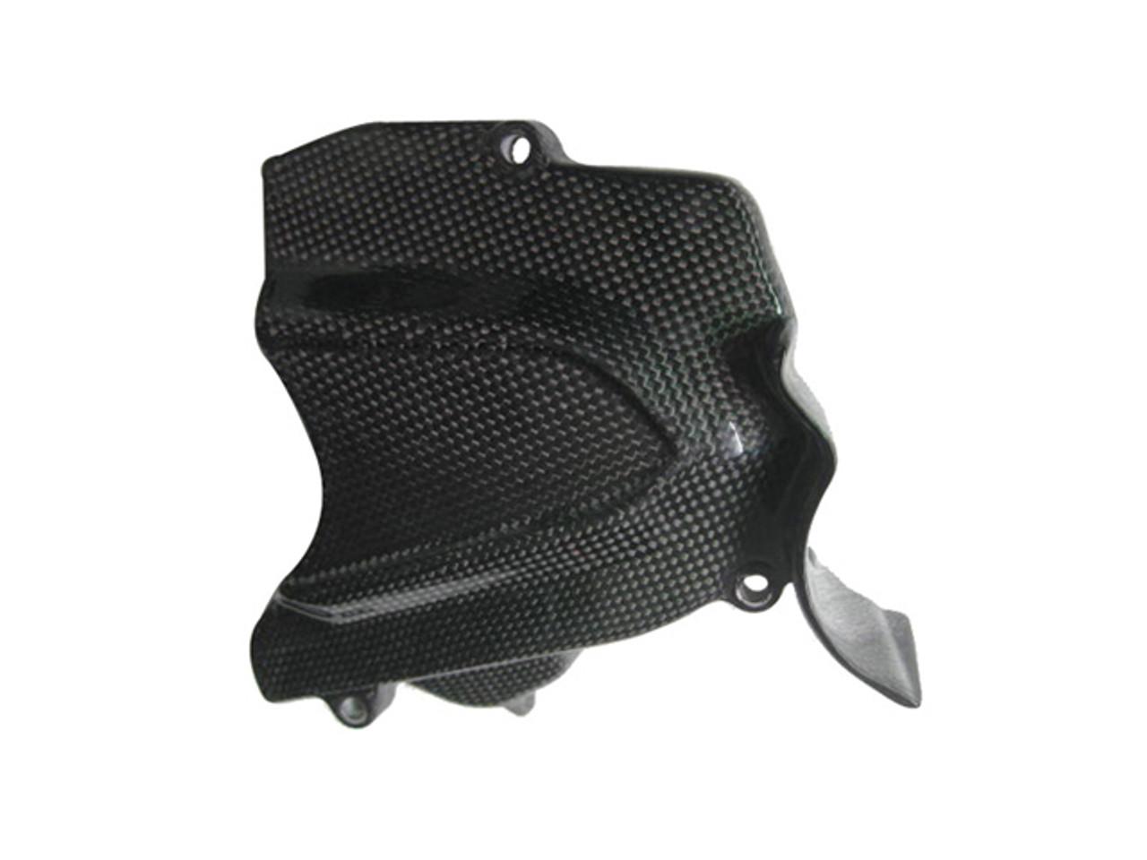 Glossy Plain Weave Carbon Fiber Sprocket Cover for MV Agusta F3 & Brutale 675/800, Dragster &  Rivale 800
