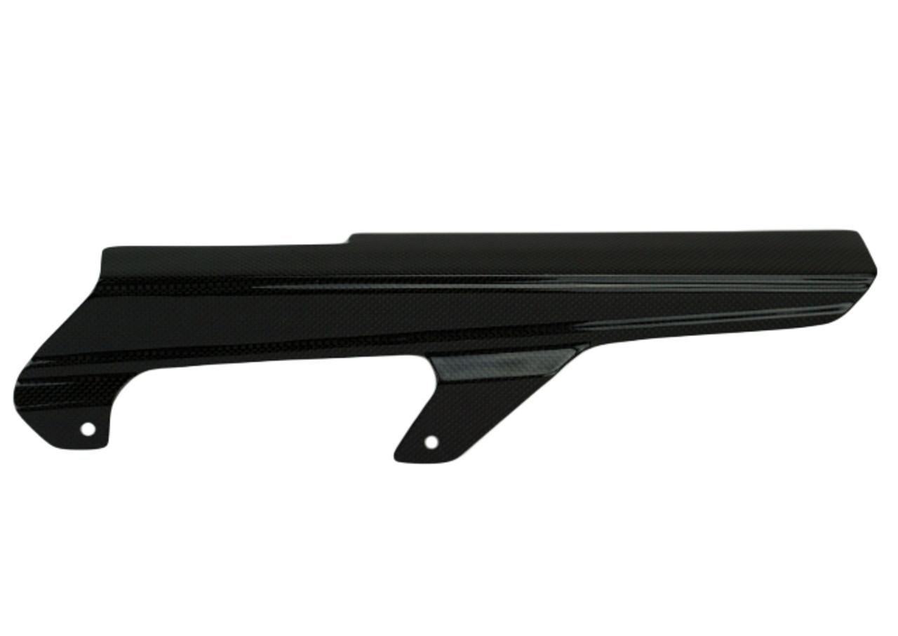 Chain Guard in Glossy Plain Weave Carbon Fiber for Suzuki GSXR600 1996-2003