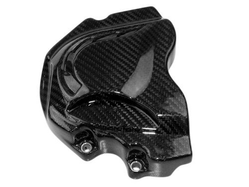 Front Sprocket Cover in Glossy Twill Weave Carbon Fiber for Kawasaki ZX10R 11-15