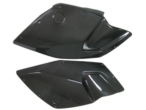 Glossy Plain Weave Carbon Fiber Side Panels for BMW K1300S