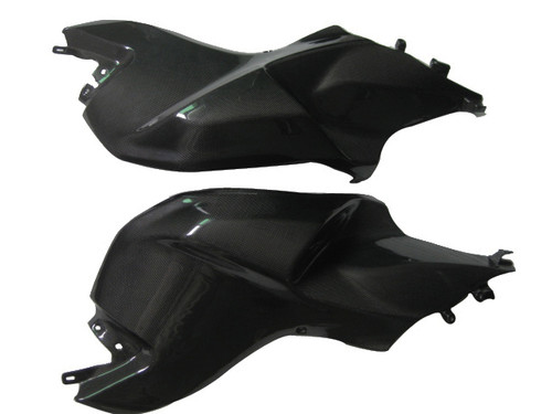 Glossy Plain Weave Carbon Fiber Tank Body Covers for BMW K1300S