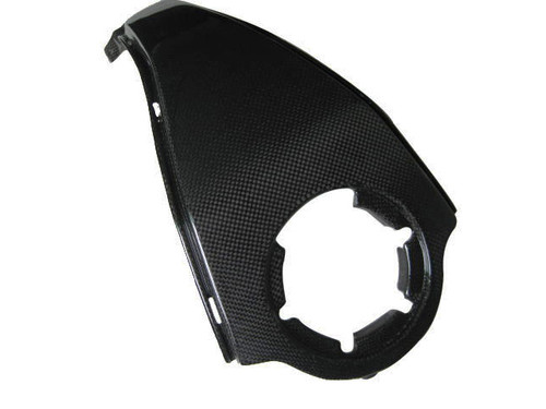 Glossy Plain Weave Carbon Fiber Center Tank Cover for BMW K1200S, K1300S