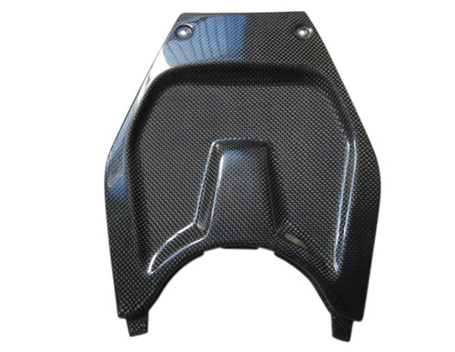 Glossy Plain Weave Carbon Fiber Battery Cover for Tank Center for BMW K1200S, K1300S