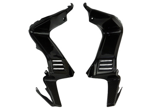 Inner Fairing Panels in Glossy Twill Weave Carbon Fiber for Yamaha FZ1 06-15