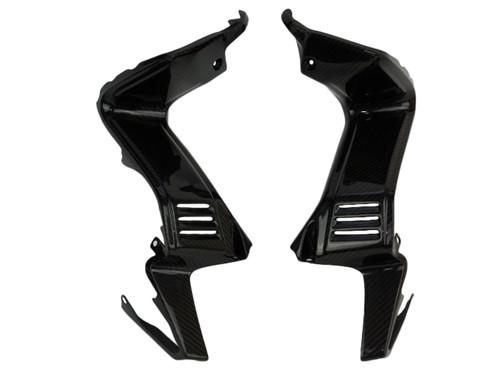 Inner Fairing Panels in Glossy Twill Weave Carbon Fiber for Yamaha FZ1 06-15