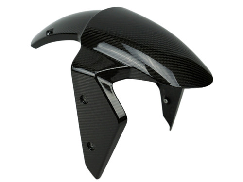 Front Fender in Glossy Twill Weave Carbon for Kawasaki Z1000SX