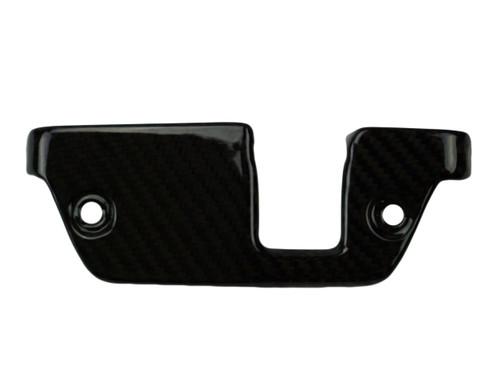 Steering Head Cover in Glossy Twill Weave Carbon Fiber for Aprilia Tuono V4, V4R 2014+