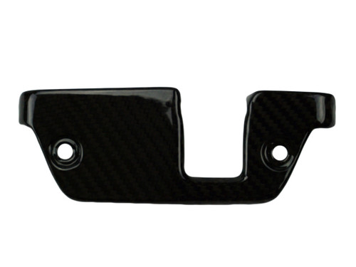 Steering Head Cover in Glossy Twill Weave Carbon Fiber for Aprilia Tuono V4, V4R 2014+