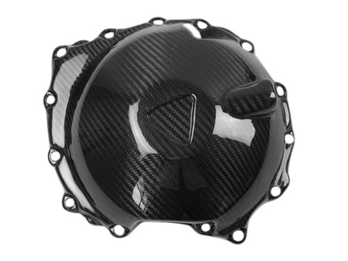 Alternator Cover in Glossy Twill Weave Carbon Fiber for Triumph Speed Triple 1050R 2016+