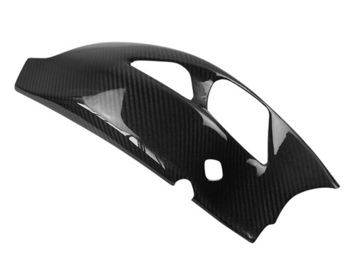 Swingarm Cover in Glossy Twill Weave Carbon Fiber for Triumph Speed Triple 1050R 2016+