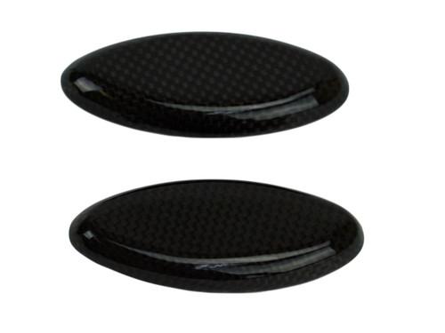 Mirror Block-off Plates in Glossy Plain Carbon Fiber for Suzuki GSX1300 R Hayabusa 2008-2017