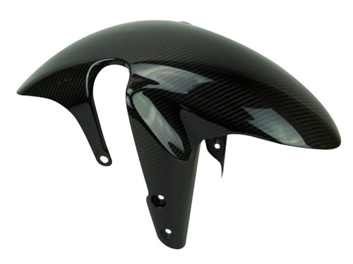 Front Fender in Glossy Twill Weave Carbon Fiber for Suzuki GSX-S750 2018+