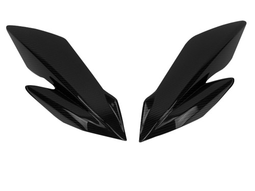 Upper Side Panels in Glossy Twill Weave Carbon Fiber for Suzuki GSX-S750 2018+