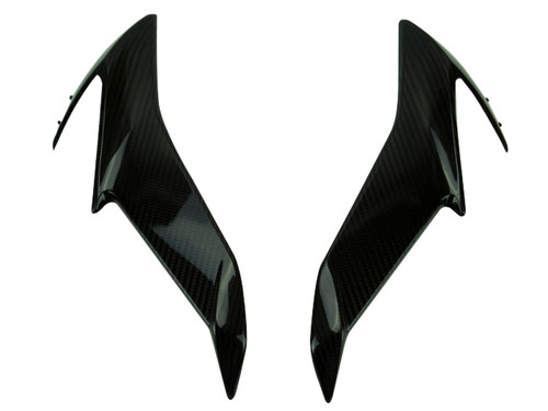 Middle Side Panels in Glossy Twill Weave Carbon Fiber for Suzuki GSX-S750 2018+