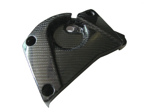 Glossy Plain Weave Carbon Fiber Front Sprocket Cover for BMW S1000RR