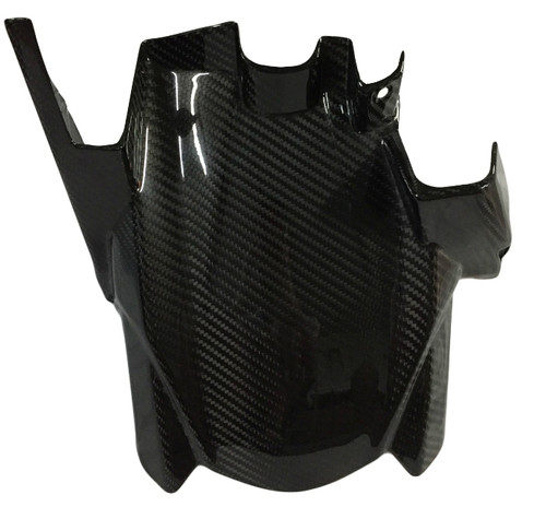 Rear Hugger in Glossy Twill Weave Carbon Fiber for Kawasaki Ninja 650R 2017+
