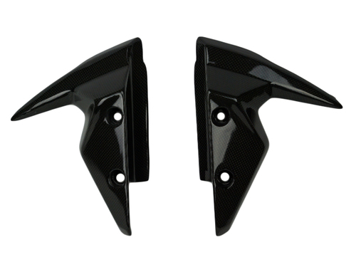 Front Fender Sides in Glossy Plain Weave Carbon Fiber for Triumph Street Triple 765 R,S 2017+