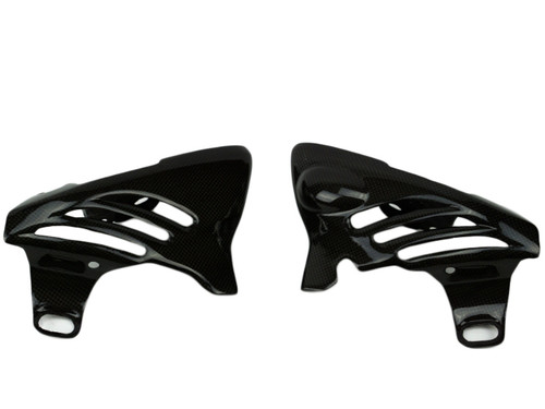 Side Covers in Glossy Plain Weave Carbon Fiber for Triumph Street Triple 765 R,S 2017+