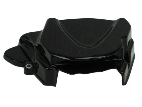 Sprocket Cover in Glossy Plain weave Carbon Fiber for Triumph Street Triple  2013+