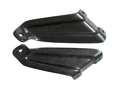 Glossy Plain Weave Carbon Fiber  Exhaust Hanger Mounts for Aprilia RSVR 04-09, Tuono 06-10