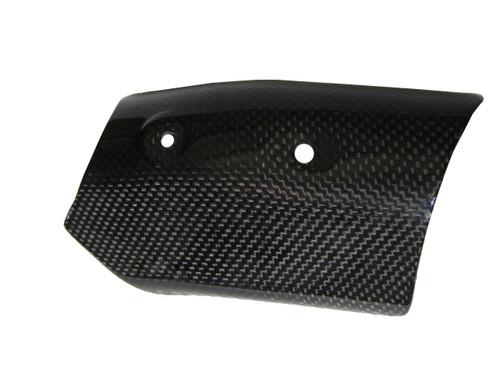 Heat Shield(heat Foil inside) for Ducati 1198,1098, 848 in Glossy Plain Weave Carbon Fiber