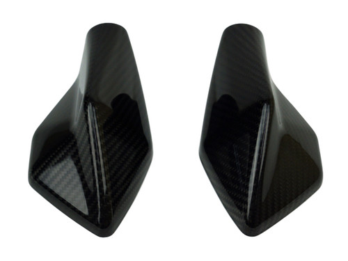 Mirror Covers in Glossy Twill Weave Carbon Fiber for Kawasaki ER6-F/ Ninja 650 2012-2016