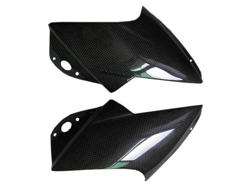 Glossy Plain Weave Carbon Fiber Front Fairing Air Scoops for Aprilia RSVR 04-09