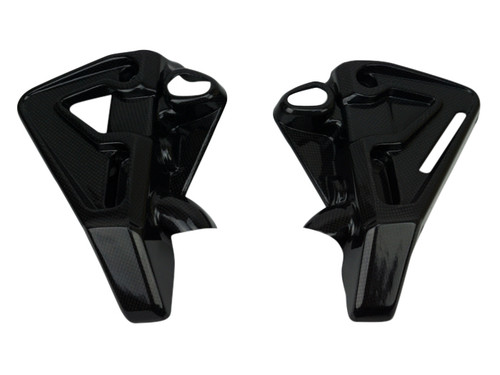 Radiator Side Covers in Glossy Plain Weave Carbon Fiber for Yamaha FZ-10-MT-10