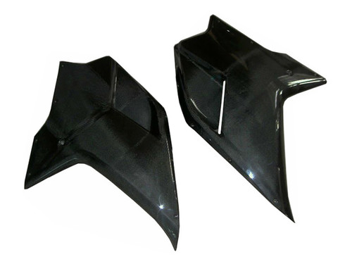 Glossy Plain Weave Carbon Fiber Side Panels for Ducati 1198,1098, 848
