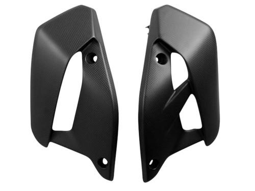 Radiator Side Panels in Matte Plain Weave Carbon Fiber for Ducati Monster 797