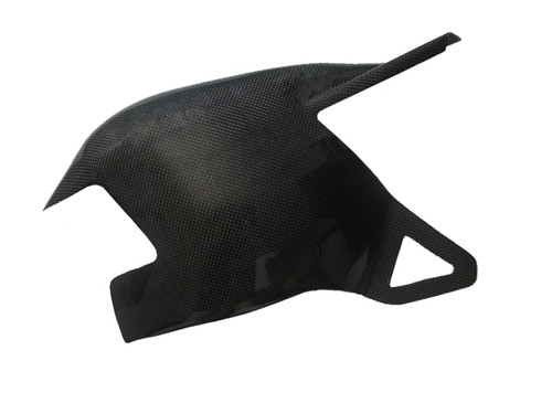 Swingarm cover for Ducati 1198,1098, 848 in Matte Plain Weave Carbon Fiber