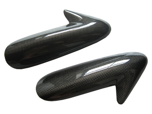 Glossy Plain Weave Carbon Fiber Tank Covers for Ducati 1198,1098, 848