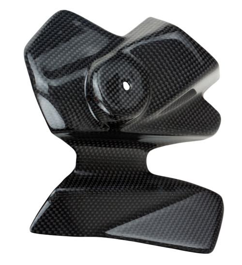 Small Cover in Glossy Plain Weave Carbon Fiber for Yamaha MT-01 2006-2010