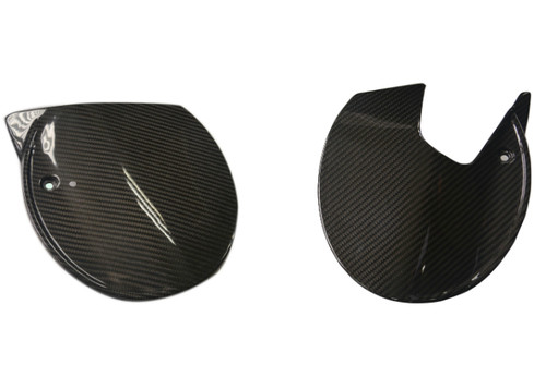 Number Plates (Sides) in Glossy Twill Weave Carbon Fiber for Ducati Scrambler Cafe Racer