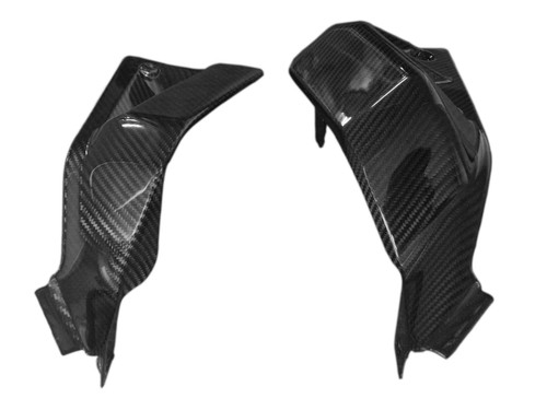 Radiator Shroud  (Style 2) in Glossy Twill Weave Carbon Fiber for Ducati Scrambler