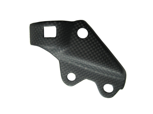 Matte Plain Weave Carbon Fiber Cover for rear Brakefluid Holder for Ducati Diavel