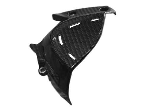 Sprocket Cover in Glossy Twill Weave Carbon Fiber for Ducati Monster 1200(S) 2017+ (not R)