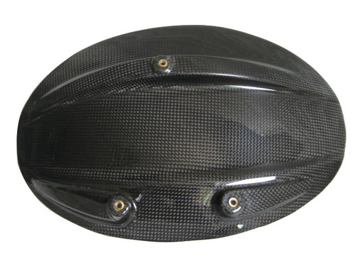 Glossy Plain Weave Carbon Fiber Splash Guard for Ducati Diavel