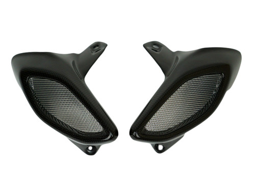 Air Intakes in Glossy Plain Weave Carbon Fiber for MV Agusta Brutale 800 2016+