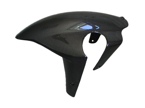 Glossy Plain Weave Carbon Fiber Front Fender for Ducati 749, 999 05-06