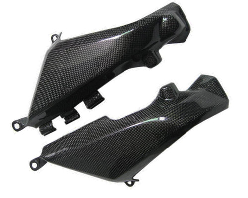 Glossy Plain Weave Carbon Fiber Oil Radiator Ducts for Ducati Monster 696 / 796/ 1100 / EVO