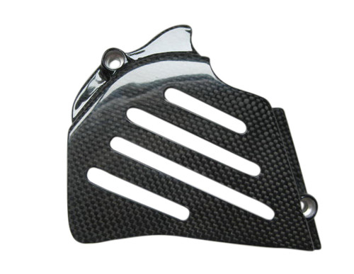 Glossy Plain Weave Carbon Fiber Sprocket Cover for Ducati Monster S2R,S4R, all other 95-07