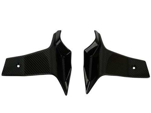 Radiator Spoilers in Glossy Twill Weave Carbon Fiber for KTM 1290 Super Duke GT