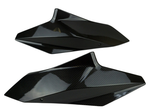 Upper Covers in Glossy Twill Weave Carbon Fiber for KTM 1290 Super Duke GT