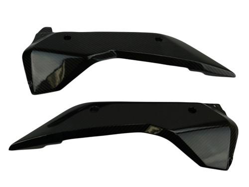 Lower Tank Covers in Glossy Twill Weave Carbon Fiber for KTM 1290 Super Duke GT