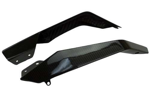 Upper Spoilers in Glossy Twill Weave Carbon Fiber for KTM 1290 Super Duke GT 2017-2018