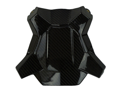 Belly Pan Mount in Glossy Twill Weave Carbon Fiber for KTM 1290 Super Duke GT
