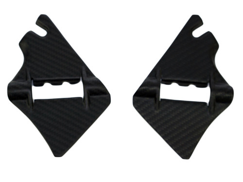 Frame Covers ( at Steering Head ) in Glossy Twill Weave Carbon Fiber for KTM 1290 Super Duke R, GT 2017-2018