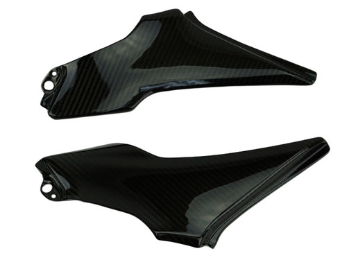 Under Seat Panels in Glossy Twill Weave Carbon Fiber for Kawasaki Z900