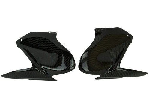 Tank Covers (set of 2 sides) in Glossy Twill Weave Carbon Fiber for Kawasaki Z900 2017-2019